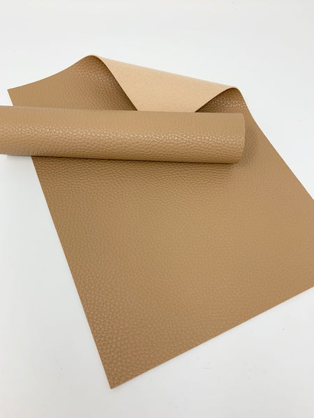 FS-900 Tan litchi design faux leather sheets.  Craft supplies. Leather hair bows supplies