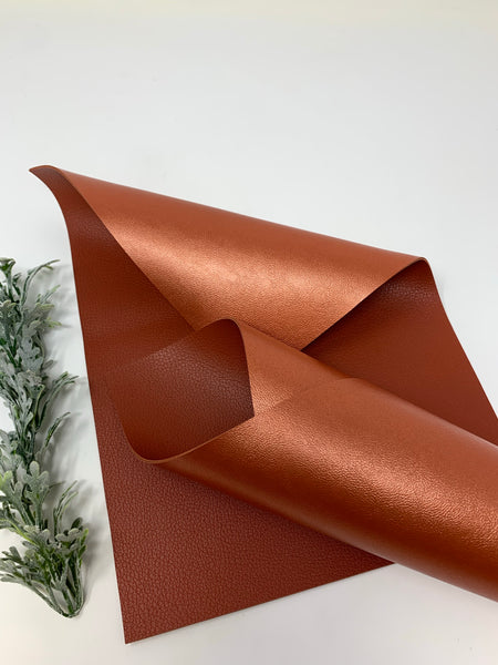 DEEP BROWN/COPPER Double  Sided faux leather sheets