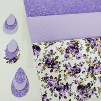 Light lavender chunky glitter sheet. Craft supplies hair bow supplies