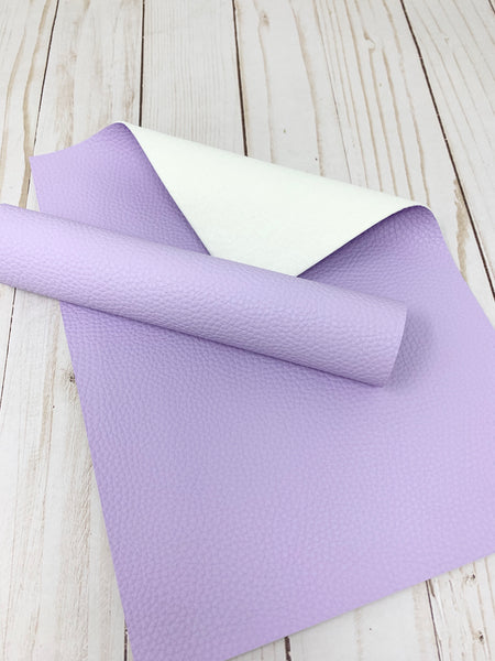 Light Purple litchi design faux leather. Craft supplies. Leather hair bows supplies FS-900