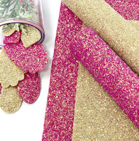 Pink or Cream chunky glitter sheets