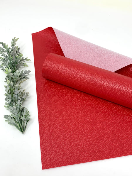RED 0.8 mm faux leather sheets #V113