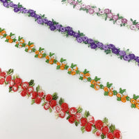 Embroidery floral trim ribbon craft supplies