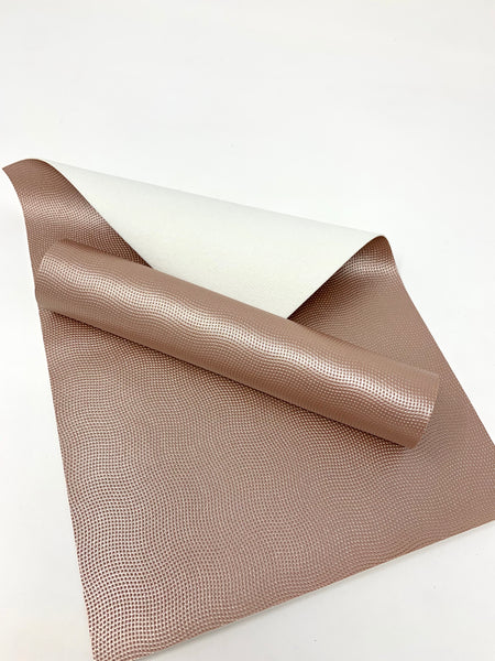 Dark rose gold faux leather sheet U6673