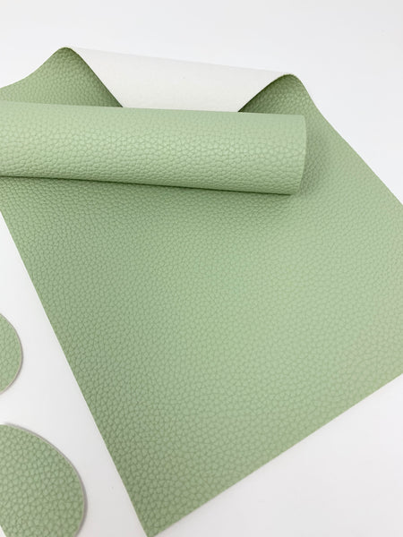 SF-900 Light Olive litchi design faux leather sheets. Craft supplies. Leather hair bow supplies