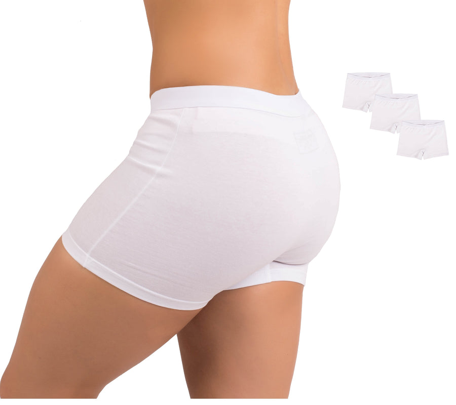 EVARI Women's Boyshort Panties Comfortable Cotton Underwear Pack of 3