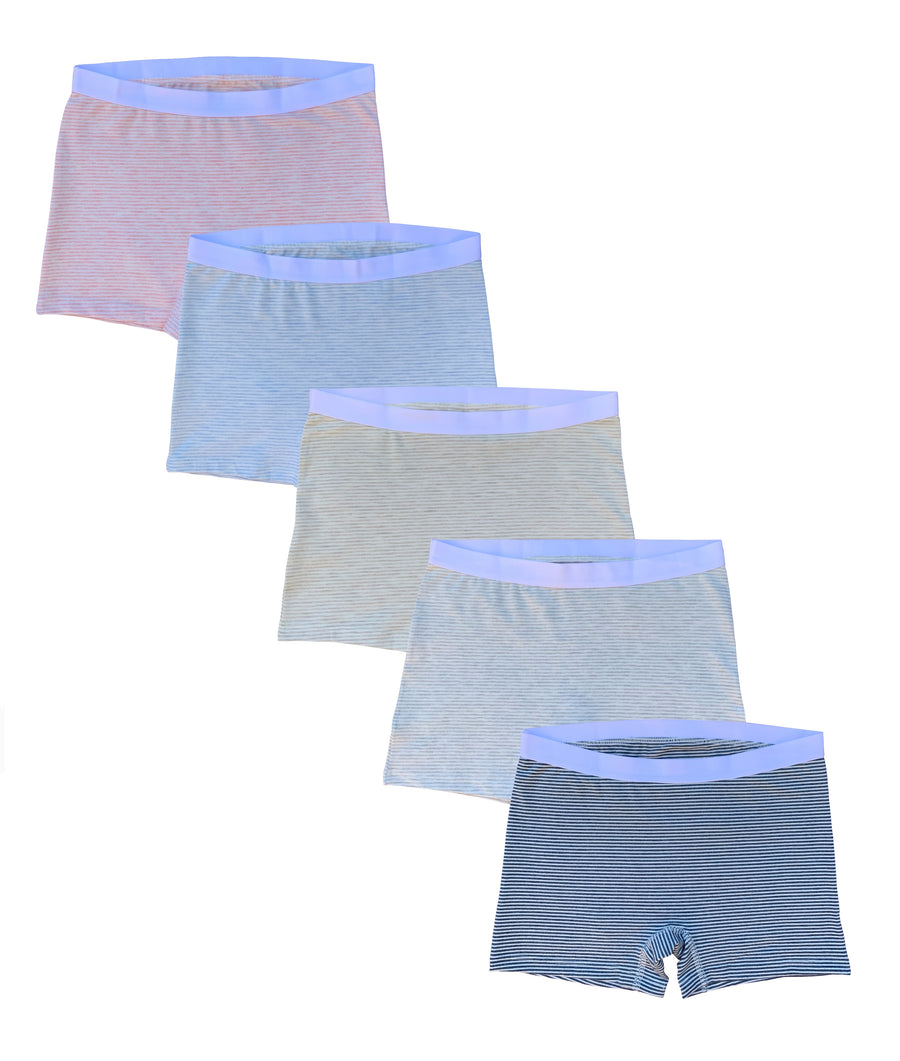 EVARI Women's Boyshort Panties Comfortable Cotton Underwear Pack of 5