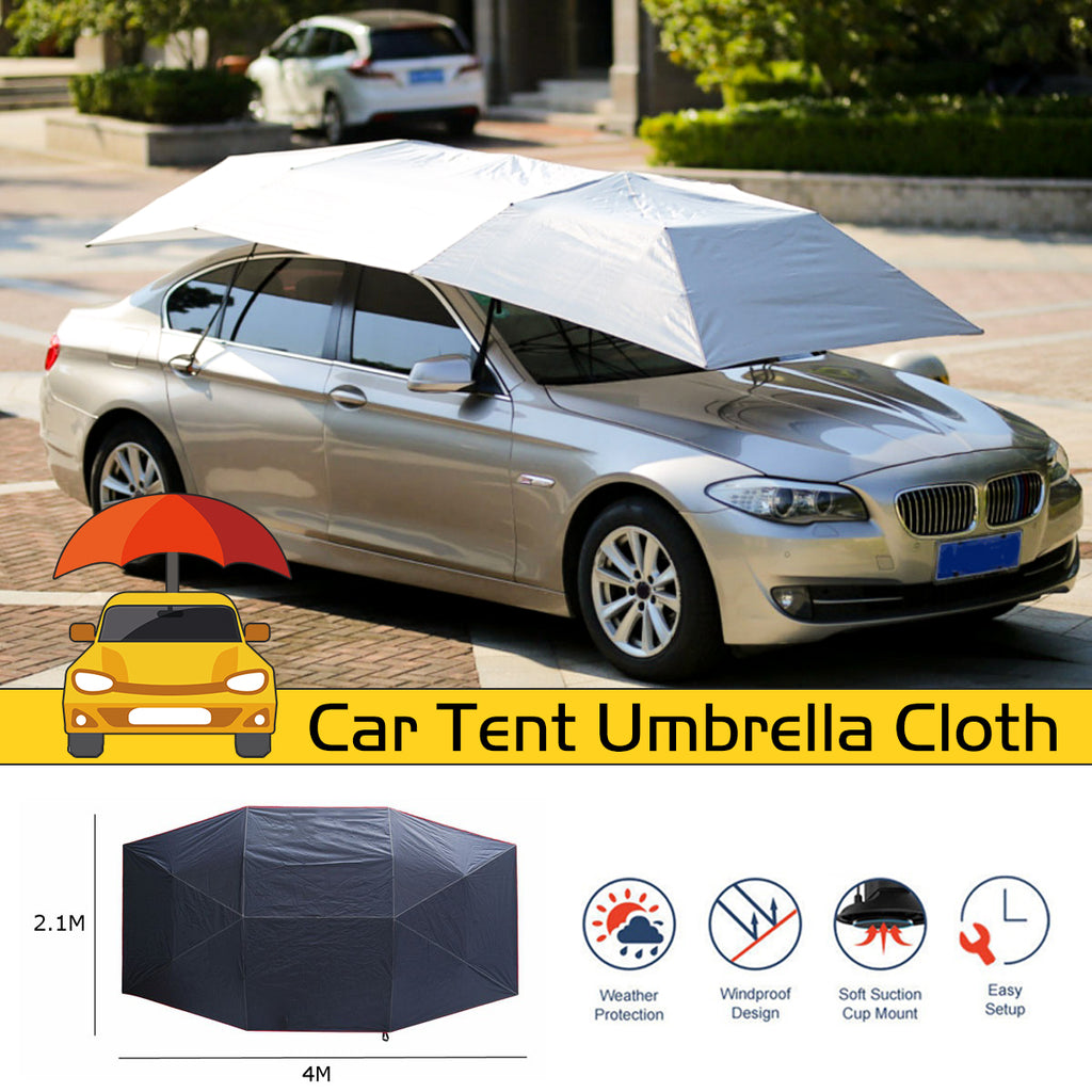 Waterproof Anti UV Full Automatic Outdoor Car Vehicle Tent Umbrella Sunshade Roof Cover Car Umbrella Sun Shade Cloth Replaceable
