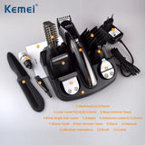 Kemei 6 in 1 Rechargeable Hair Trimmer Titanium Hair Clipper Electric Shaver Beard Trimmer Men Styling Tools Shaving Machine 600