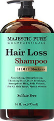 Majestic Pure Hair Loss Shampoo, Offers Natural Ingredient Based Effective Solution, Add Volume and Strengthen Hair, Sulfate Free, 14 DHT Blockers, for Men & Women...