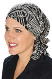 Slip-On Slinky-Caps for Women with Chemo Cancer Hair Loss Neutral Tribal at Amazon Women's Clothing store