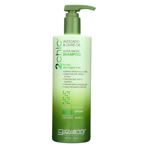 GIOVANNI COSMETICS - Ultra-Moist Shampoo With Avocado And Olive Oil (24 Ounce)