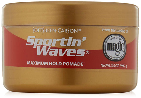 SoftSheen-Carson Sportin' Waves Maximum Hold Pomade, 3.5 oz