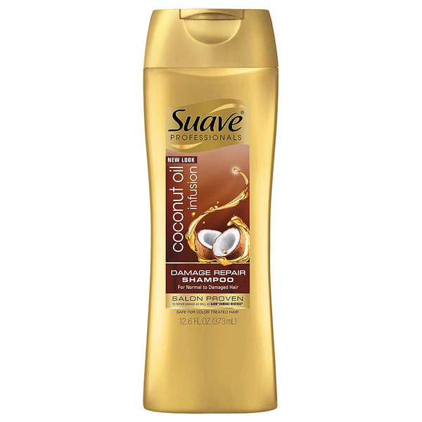Suave Professionals Damage Repair Shampoo, Coconut Oil Infusion, 12.6 oz