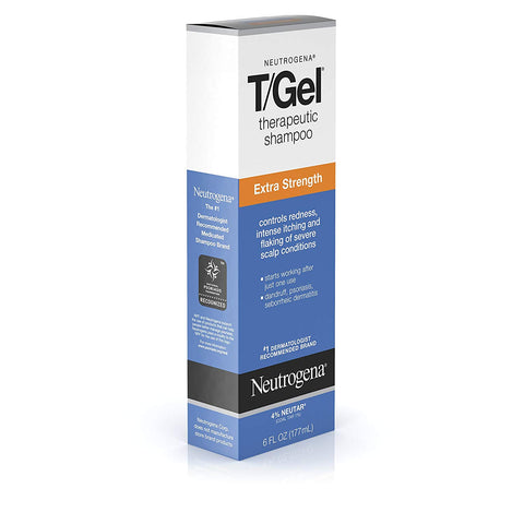 Neutrogena T/Gel Extra Strength Therapeutic Shampoo with 1% Coal Tar, Anti-Dandruff Treatment for Long-Lasting Relief of Itchy, Flaky Scalp due to Psoriasis &...