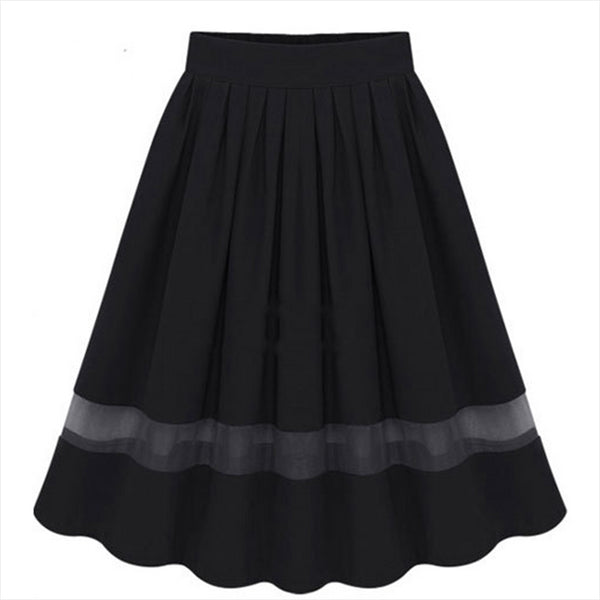 Waist Skirts Spring Color Casual Style Women White Summer Hot Max Size female Loose Black Confortabl