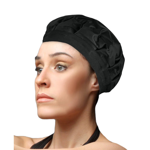 Cordless Hot/Cold Therapy Hair Cap Deep Conditioning Heat Cap Hair Styling And Treatment Steam Cap For Hair Steam & Style - Blac