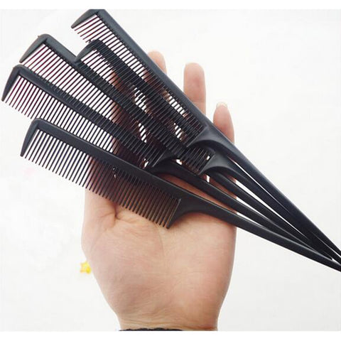 Hot Sale 1PC/10PCS Random Color Hair Comb Salon Brush Styling Hairdressing Tail Plastic Comb Set With Thin And Long Handle