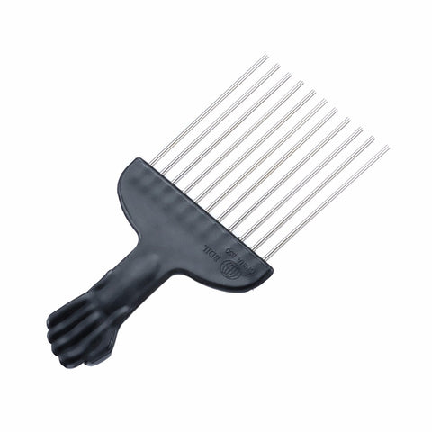 Mayitr Professional Salon Use Black Metal African Hair Combs Afro Hair Comb For Hairdressing Tools