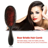 hair brush For Beauty Scalp Massage Hairbrush Comb Oval Anti-static Paddle Comb Hair Styling Tool Boar Bristle & Nylon HairBrush