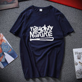 Naughty By Nature Old School Hip Hop Rap Skateboardinger Music Band 90s Bboy Bgirl T-shirt Black Cotton T Shirt Top Tees
