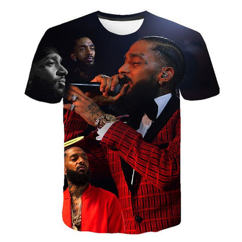 Summer Nipsey Hussle HIP HOP T-shirt Male 2019 Music Winchester T-shirt High Quality 3d Casual T Shirt Fashion Tees top Men
