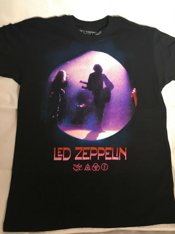 Led Zeppelin Concert Band Rock And Roll Music T-shirt - Black Men's Size Large
