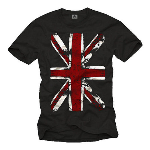 UNION JACK MENS T SHIRT WITH ENGLAND FLAG - SHORT SLEEVE UK PUNK ROCK MUSIC TEE Cool Casual pride t shirt men Unisex