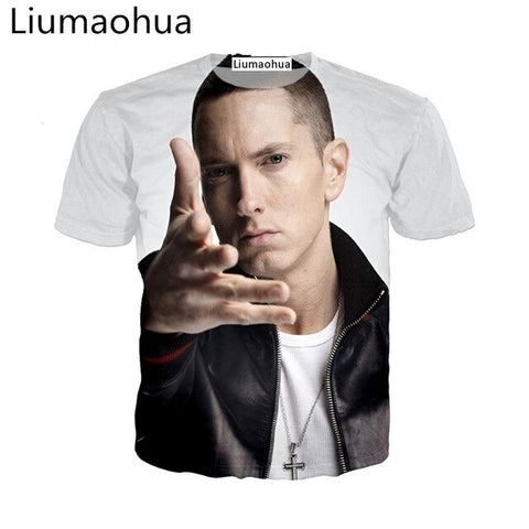 Liu Maohua Music Rap God Men's T-Shirt 3D Print Rap Men's T-Shirt