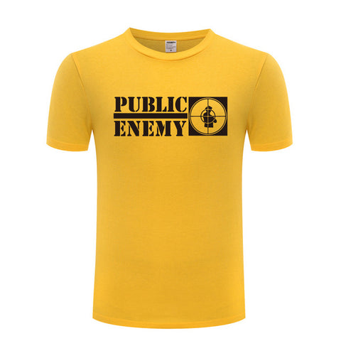 Music Rap Public Enemy T Shirts Men Hip Hop Short Sleeve O Neck Cotton Man T-Shirt Cool Funny Streetwear Top Tee Big Size