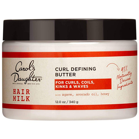 Curly Hair Products by Carol's Daughter, Hair Milk Styling Pudding For Curls, Coils and Waves, with Agave and Avocado Oil, Paraben Free Defining Curl Cream, 8 oz...