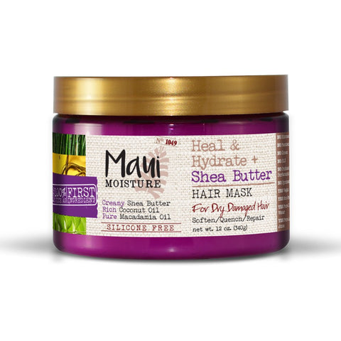 Maui Moisture Heal & Hydrate + Shea Butter Hair Mask, 12 Ounce