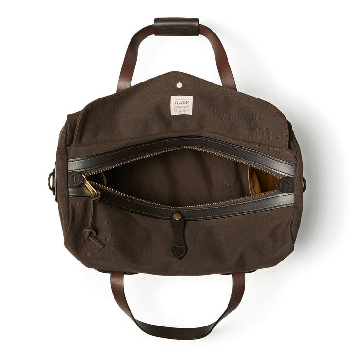 Small Rugged Twill Duffle Bag - Brown