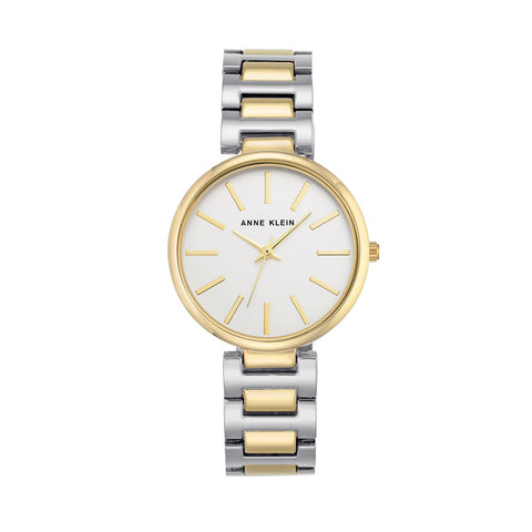 Gold Case + Silver/Gold Two Tone Bracelet Watch