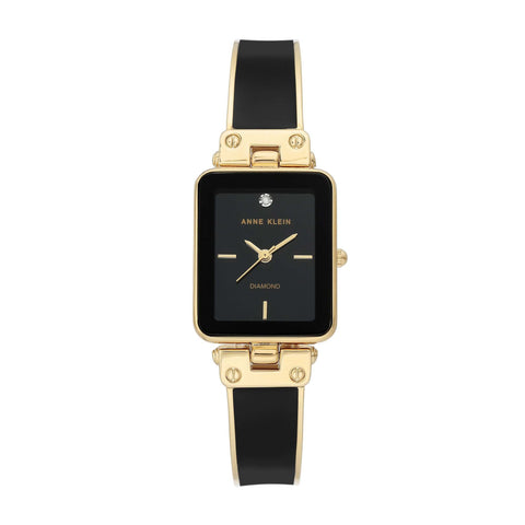 Black Case + Black/ Gold Bangle Watch