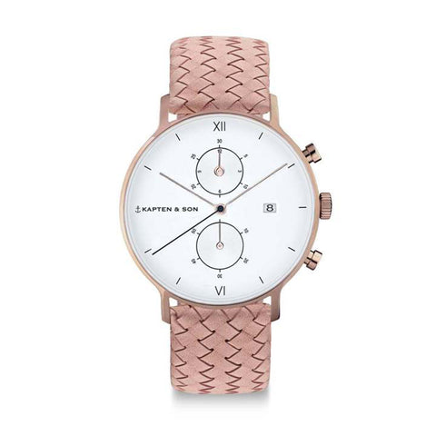 Chrono Rose Woven Leather