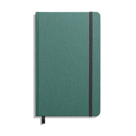Medium  Hard Linen Grid Journal - Forest