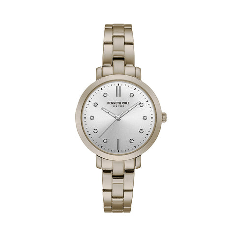 Ladies - 3 Hands White Silver Bracelet Watch