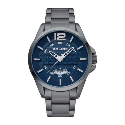 LAWTON - Blue dial + Gunmetal bracelet watch