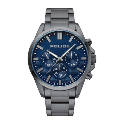 HOPKINS - Blue dial + Gunmetal IP bracelet watch