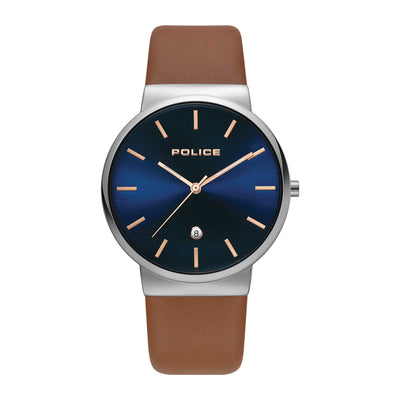 COSWIG - Blue dial + Brown leather watch