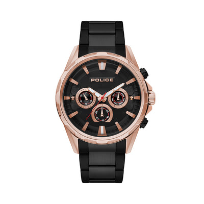WINSTED - Rose gold case + Black IP bracelet watch