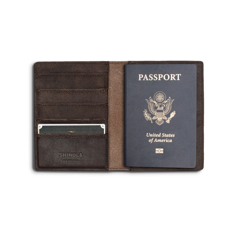 Passport Wallet - Deep Brown