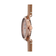 The Runwell 41mm, White/Tan/Rose Gold