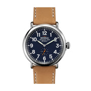 The Runwell 47mm, Navy Blue/Tan