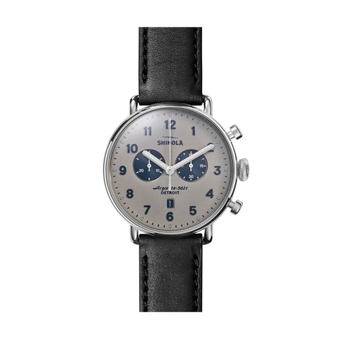 The Canfield 43mm, Grey/Black