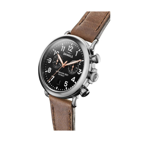 The Runwell Chrono 41mm, Black/Brown