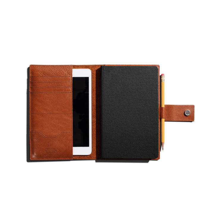 Medium Journal /Ipad Mini Cover W/Tab - Bourbon