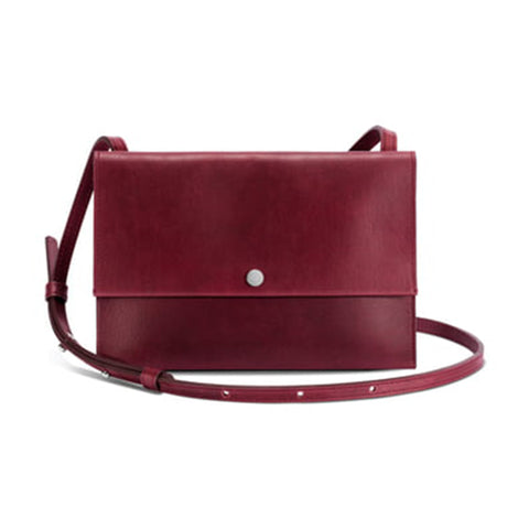 Accordion Crossbody - Burgundy