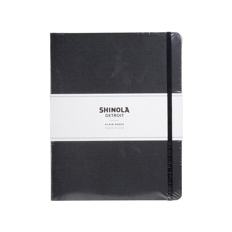 Large Soft Linen Plain  Journal – Charcoal